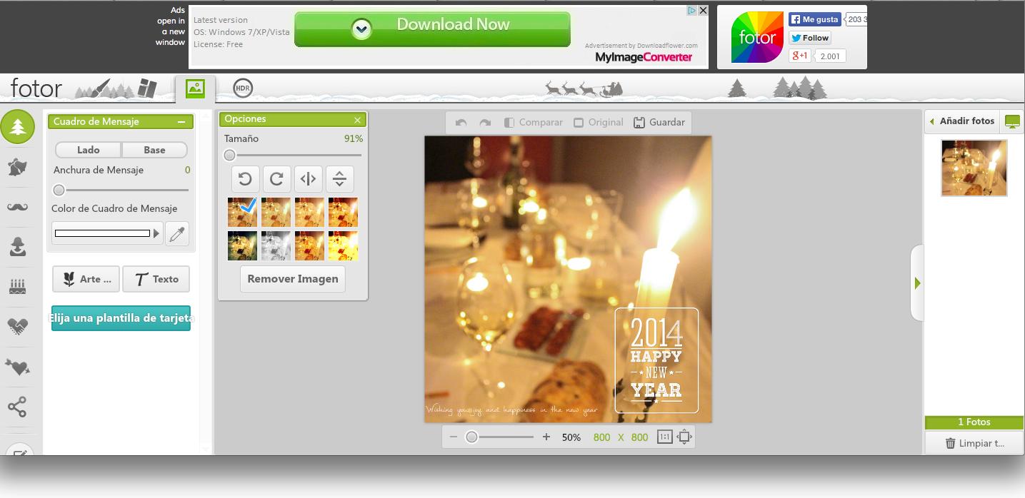 Herramientas de edición de fotos sencilla