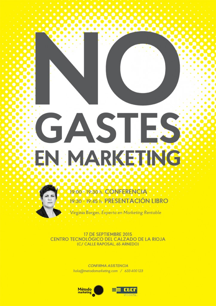 Poster presentacion libro Método marketing
